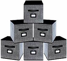 homyfort 6er Set Faltbare aufbewahrungsboxen