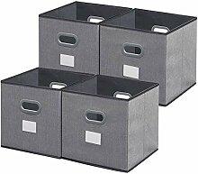 homyfort Aufbewahrungsbox aus Stoff in 4er Set,