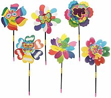Homyl 10 Stück Windrad Windspiel aus Kunststoff