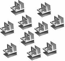 Homyl 10pcs Aluminiumlegierung Glashalter