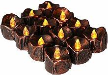 Homyl 12er-Set LED Flackernde Kerze Teelichter