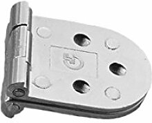 Homyl 2 stk. Scharniere Edelstahl 100mm Türband Türscharnier Scharnier Möbelschaniere - Silber, 79mm