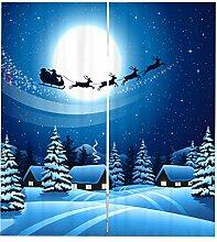 Homyl 2 Stücke Weihnachts dekoration Vorhänge