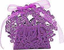 Homyl 20pcs Schmetterling Gastgeschenk Geschenkbox