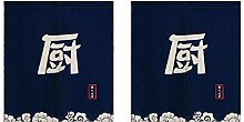 Homyl 2pcs Japanische Getrennte Türvorhang