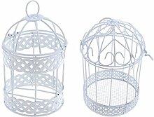 Homyl 2pcs Vogelkäfig Form Hängende Rahmen