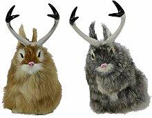 Homyl 2pcs Wolpertinger Dekofigur Hase Kaninchen