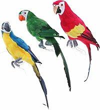 Homyl 3pcs Papagei Ara Zaunfigur Gartenfigur