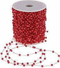 Homyl 60 M Kunststoff Perlengirlande Perlenband