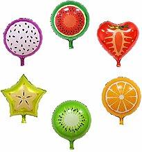 Homyl 6pcs Frucht Form Luftballons Folienballon