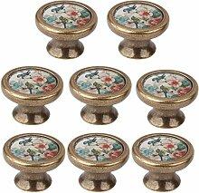 Homyl 8 Stück Möbelknöpfe Möbelknauf Set für