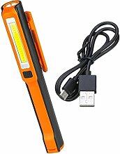 Homyl Arbeitsleuchte Taschenlampe mit Befestigungs-Clip inklusiv Magnet Halterung - Orange