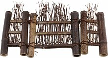 Homyl Bambus Miniatur Zaun Dekoration für