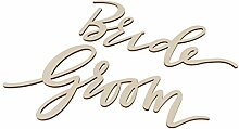 Homyl Bride Groom Schilder Stuhl Dekoration