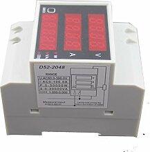 Homyl Digital DIN Stromzähler Amperemeter Voltmeter