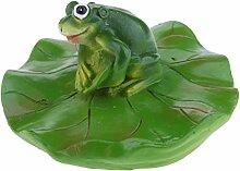 Homyl Frosch Teichdekoration Schwimmform Schwimmfigur Teichdeko Gartendekoration, Familie (3 Frösche)/Balz/Küssen/Stehend/Liegend/Rudern zum auswählen - Stehen