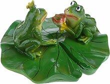 Homyl Frosch Teichdekoration Schwimmform Schwimmfigur Teichdeko Gartendekoration, Familie (3 Frösche)/Balz/Küssen/Stehend/Liegend/Rudern zum auswählen - Werbung