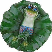 Homyl Frosch Teichdekoration Schwimmform Schwimmfigur Teichdeko Gartendekoration, Familie (3 Frösche)/Balz/Küssen/Stehend/Liegend/Rudern zum auswählen - Liegend