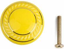 Homyl Gelbe Rund Möbelknopf Möbelknöpfe Möbelgriff Komodengriff - Gelb, One Size