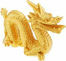 Homyl Handwerk Chinesische Drache-Figur Harz Haus