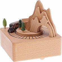 Homyl Holz Spieluhr Spieldose mit Musik