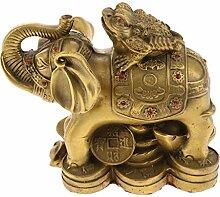 Homyl Kupfer Kupfer Glückliche Kröte Elefant