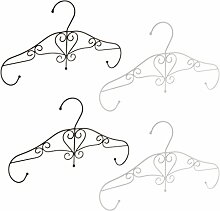 Homyl Moderne Kleiderbügel dünn Antirutsch für Kleidung/Anzug/Jacke/Krawatte, aus hochwertigem Eisen - Schwarz + Weiß