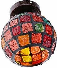 Homyl Runde Mosaik-Lampe E27 Deckenlampe