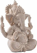 Homyl Sandstein Ganesha Buddha Elefanten Statue