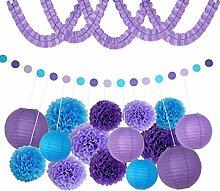 Homyl Seidenpapier Pompoms Ballons Girlande Party