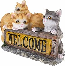 Homyl Solar Katze Tierfigur Modell Gartenfigur