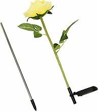 Homyl Solar Schöne Rose Blumen Gartenlampe