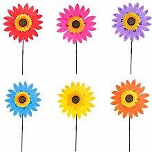 Homyl Sonnenblume Garten Windmühle Windrad