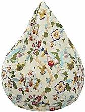 Homyl Stofftier Sitzsack Bezug Bean Bag Sessel Sitzkissen Bezüge Abdeckung für Kinder, Landhausstil - Blütenblätter