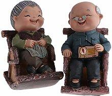 Homyl Süße älteres Paar Figuren Tischdeko,