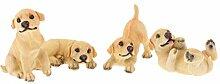 Homyl Tierfigur Hund Gartendeko Tischdeko Bonsai