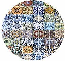 Homyl Tischdecke rund Tischtuch aus Polyesterfaser