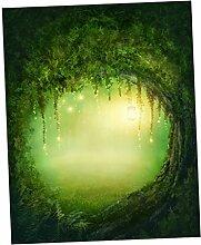 Homyl Wandteppich Wälder/Sonnenaufgang/Baum