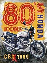 Honda CBX 10001980's Ikonen. Motor Cycle Bike. Für Haus, Zuhause, Bar, Garage oder Pub Metall/Stahl Wandschild, stahl, 20 x 30 cm