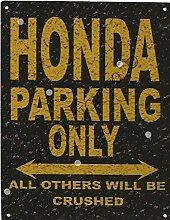 Honda Metall Parking Rustikaler Stil den großen 30,5x 40,6cm 30x 40cm Auto Schuppen Dose Garage Werkstatt Art Wand Spiele Raum