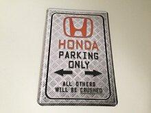 Honda parking only - Blechschild 20x30 cm
