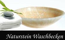 Honey Onyx Becken Naturstein Waschbecken Marmor - ligh