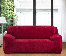 Honeyhome – 3-Sitzer-Sofa mit Schutzbezug aus Polyester, 190bis 230cm Rouge Vieux