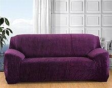 Honeyhome – Schutzbezug für Zweisitzer-Sofa aus Polyester, 145bis 185cm viole