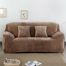 Honeyhome – Schutzbezug für Zweisitzer-Sofa aus Polyester, 145bis 185cm camel