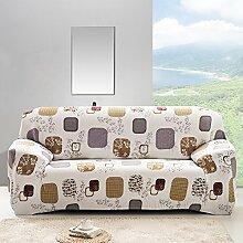 honeyhome Stoff Spandex-Sofabezug für/Beschichtung Schutz Sofa/Bezug für Sofa/Sessel-Bezug,, Polyester, F, 2-Sitzer