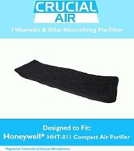 HoneyWell HHT - 011, waschbar, wiederverwendbar, geruchsneutralisierende &Neaturalizing Particle Pre Filter für HoneyWell HHT - 011 Luftreiniger; im Vergleich zu HoneyWell HHT011 Part #HRF B2C HRFB2C (-), Design &3811-350, entworfen von Crucial,
