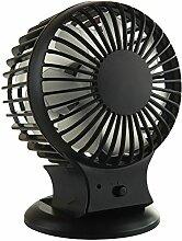 Hongding Ventilator Mini Schwarz mit USB