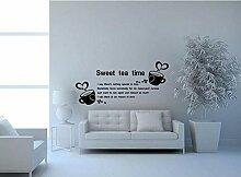 Hongge Kaffee-Haferl Wand Aufkleber Leben Hostel