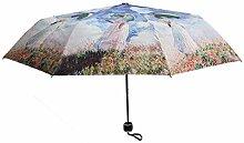 Hongge Regenschirm Schirm Silber Kleber